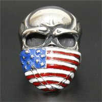 anniversary gifts usa - 2pcs Fast Shipping USA Flag Popular Ring L Stainless Steel Man Boy Personal Design Band Party Freedom Ring