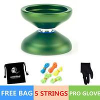 balls aluminum alloy - Professional Magic YOYO Ball N12 SHARK HONOR Aluminum Alloy Kids Toys for Green color comes with golves