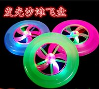 Wholesale Colorful Fashion Hot Spin LED Light Magic Outdoor Toy Flying Saucer Disc Frisbee UFO Kid Toy