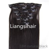 virgin brazilian hair clip in - Brazilian virgin remy human Hair quot quot g B natural black clip in hair extensions grade A