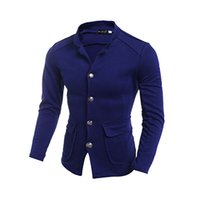 Wholesale Fall Fashion Trench Coat Men Korean Style Coat Top Quality Men s Casual Suit Jacket Coat Blazer Stand Collar