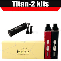 Wholesale Titan Dry Herb Vaporizer Titan2 Hebe Kit With LCD Display Of Tempreture And Hebe mah Battery in stock E Cigarette VS Snoop dogg DHL