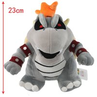 Wholesale Mario Bone Kubah boss Dragon Plush Toy Bolster Plush inches Soft Stuffed kids Toys Dolls