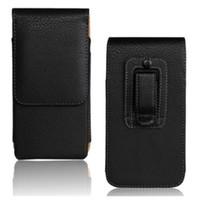 belt purse pattern - 1PCS Black Lichee Pattern Smooth Case for Asus Zenfone Belt Clip Man s Purse