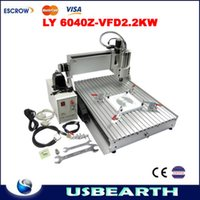 Wholesale Mini desktop engraving machine CNC Z VFD2200W for wood engraving cutting drilling and millng mini cnc router