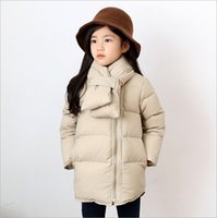 Wholesale Girls Down Coat New Arrival Winter Fashion Korean Cotton Padded Clothes Children Christmas Princess Coat with Collar MC
