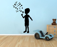 baby boys bedroom - Little Boy Blowing Bubble Nursery Baby wall decor vinyl house decoration kids room decoration removable wall decal