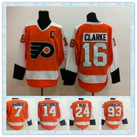 barber green - Top Fast New Ice Hockey Jersey Philadelphia Flyers Clarke Barber Laperriere Matt Read Jakub Voracek Orange Jerseys