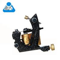 custom tattoo machines - 7601 Pro Black Custom Tattoo Machine Gun Dual Wrap Coils Set for Liner and Shader