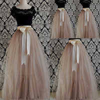 Wholesale 2015 Summer Tulle Skirts Layers Tulle floor length Young Lady Girls Skirts Best Selling New Fashion Princess Layered Tutu Skirt Ribbon