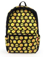 Black Boys Girls Design Smiley Cute Emoji Day Pack Fangirl School Shoulder Backpack
