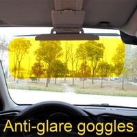 Wholesale Car Sunshade Prevent Visor Goggles For Driver Day Night Vehicle Anti Dazzle Mirror Sun Visors Glare Blocker Shade Eye Solar Protection