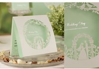 Wholesale 2016 New design wedding cards invitations flowers Hollow Flowers Customized green inner sheet purple party invitations