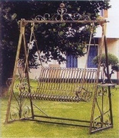Wholesale C Iron ages outdoor terrace hanging chair rocking cradle Doubles modern minimalist black white removable
