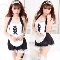 Wholesale new maid outfit maid outfit sexy underwear temptation students ladies XL transparent fat sexy uniforms