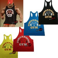 Wholesale New Hot male cotton thin straps bodybuilding professional training Gym Men s sports vest the word loose vest Tank