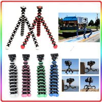 Wholesale Free DHL Mini Digital Camera Phone Stand Flexible Camera Tripod Mini Octopus Bubble Tripod with Phone clip holder for mobile phones Camera