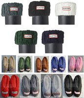 Acrylic fleece socks - 2015 womens new hunter knitting cuff rain boots socks four color welly long boot liners Boot Hight cm