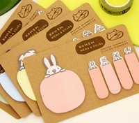 Wholesale Free ship set Creative stationery cute cartoon animal kraft N times posted memo notes scratch pad paper note
