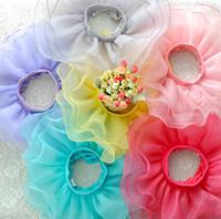 Pleated babies wearing glasses - Girls candy color glass yarn fluffy princess tutu skirt Children s pleated ruffle pettiskirt fairy skirt Kids wear babies clothes