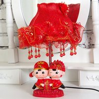 Wholesale The marriage room decoration decoration creative wedding wedding gift gifts festive resin decoration lamp one generation