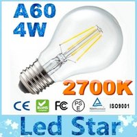 COB super white - Super Bright W LM Led Filament Bulbs Light Angle Warm White K E27 E14 A60 Led Lights Edison Lamp V Equivalent to W GLS