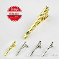 Wholesale 1pcs Simple Glossy Metallic Men Necktie Silver Tone Metal Clamp Jewelry Decor Tie Clip