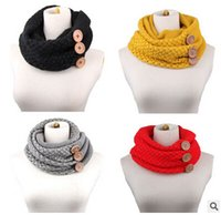 Wholesale Button Scarves Womens Infinity Scarf Winter Scarf Fashion Scarf Thick Brand Scarves for Women Multi Scarf Neck Warmer Ring Scarf m01030