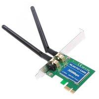 wireless pci lan adapter - 2014 Wireless Lan PCI PCI e Express Adapter Card Mbps n b g Antenna New