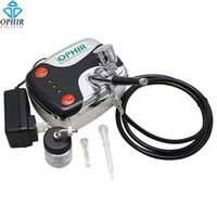 air compressor paint car - OPHIR Mini Air Compressor mm Dual Action Airbrush Kit for Temporary Tattoo Nail Art Car Painting Cake Decorating _AC002 AC005