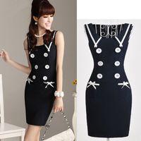 bags ebay - Ebay hot doll collar button pocket bag hip mini dress manufacturer direct S XL
