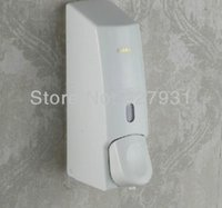Baño ABS blanco dispensador de jabón líquido Espuma Loción líquido Shampoo Dispenser 1.001 # 01