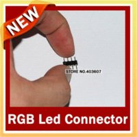 Wholesale 100pcs RGB Double pin LED Strip Needle Connector Best Price led strip connector high quality led connector