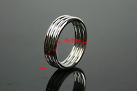Cheap Penis Ring Cock Ring Cockring For Men Male Sex Products Sex Toys Adult Game Belt Lock Dick 45 50mm Stainless Steel