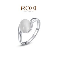 Cheap FG ROXI 2014 Free Shipping Gift Platinum Plated Romantic Ellipse Opal Ring Statement Rings Fashion Jewelry For Women Party Wedding