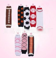 baby football boots - 2016 Spring New Bowknot Football Baseball Basketball Baby Leg Warmers Kneepad Boot Crochet Legs Warmer Cartoon Leg Warmers Boot Socks