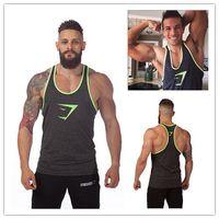gym vests men - Hot Cotton Gymshark Tanks Men Brand Muscle Tank Top Gym Shark Fitness Clothes Men Bodybuilding Vest Undershirt