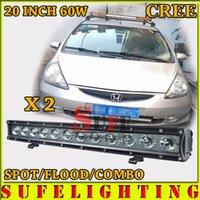 NOUVEAU 2PCS * 5W 20inch 60W CREE LED Lumière de Travail Bar Offroad Truck Conduite Light 4X4 4WD Car Lumière Externe 120W / 100W