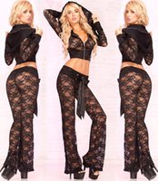 Wholesale Women s Sexy Lace Cloth With Lounge Pants Sexy Party Dress Clothing