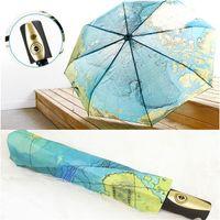 auto open umbrellas - New Brand World Map Auto Open Auto Close UV Coating Windproof Fold Umbrella with Bag Rain Women Men Umbrellas
