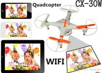 Wholesale Hot Cheerson FPV CX W Rc Quadcopter G Axis CH Wifi Phone Control Helicopter Drones With Camera HD helicopter