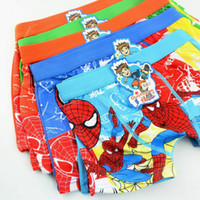 Wholesale baby child cotton underwear kid s cartoon spider man panties spiderman boy s boxer briefs freeshipping