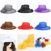 Wholesale Direct Selling Beach Hat Sombrero Summer Style Fashion Women Girl Kentucky Derby Wide Brim Wedding Church Sea Beach Sun