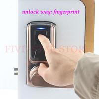 fingerprint door access - 2015 HOT digital fingerprint door lock electric biometirc access control lock with deadbolt IC card door handle lock for home office