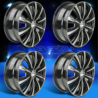 Wholesale 4Pcs Set for Nissan Sentra x Alloy Car Wheels Rim Black Machined Polished USA STOCK