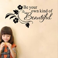 abstract art inspiration - DIY Be Your Own Kind of Beauiful Inspiration PVC Letter Word Removable Vinyl Art Wall Sticker Wallpaper Decal Decoration