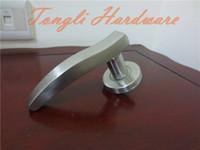 Door Handles interior door handles - 2016 new stainless steel sanding treatment solid cast lever handle interior room door pull washroom furniture lock