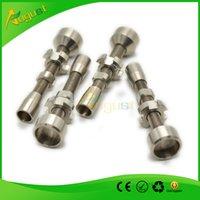 Wholesale Double Adjustable Grade Titanium Nail Fits female joints Domeless titanium Carb Caps Nail Dnail Enail quartz nail
