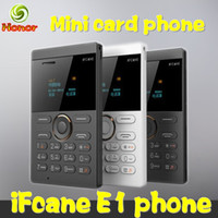 Wholesale Original IFcane E1 Arabic Keyboard mm Slim Card mini Phone Ultra Thin Pocket Low Radiation mobile phone Cheap Cell phones Multi language