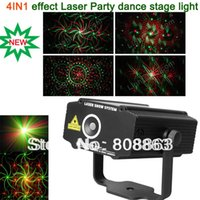Wholesale new Mini in1 patterns Sunflower Whirlwind R G Laser Projector Lighting Stage Disco DJ Club KTV family party SHOW light p17